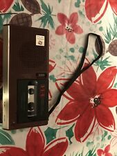 General Electric Variable Voice Activation System Microcassette Tape Player Reco