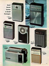 1965 ADVERTISEMENT 3 Page Transistor Radio Radios York GE Realtone Aiwa Viscount