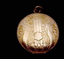 Vintage Sadler's Gold Filled Locket Double Side Nice Decoration 24133