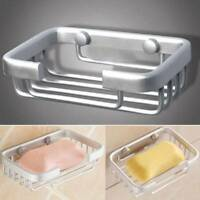 Bathroom Wall Mounted Bath Shower Soap Storage Shelf Holders Rack Dish Basket