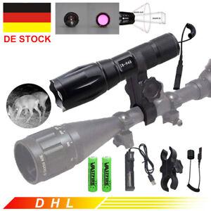 IR 7W 940nm Zoom LED Infrarot Taschenlampe Nachtsicht Jagd Montieren Lamp