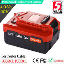 20V 4.0Ah 4000mAh Li-Ion Battery for Porter Cable PCC685L PCC680L PCC682L PCC660