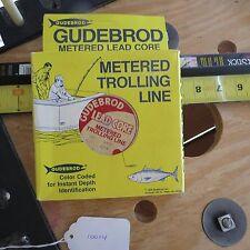 Vintage Gudebrod Lead core fishing line 2 spools of 100 yes 27lb test (Lt#10014)