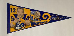 1999 Kurt Warner Super Bowl XXXIV MVP Pennant St. Louis Rams