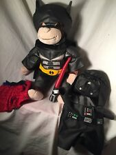 Curious George With Batman and Darth Vader Star W.Costumes and Spider-Man Shorts