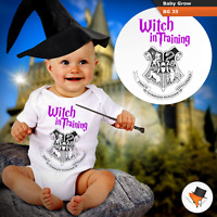 WITCH IN TRAINING HOGWARTS BABY GROWS HARRY POTTER THEME BODYSUIT VEST GIFT