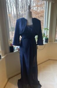 Navy Mother of the Bride Dress with Jacket