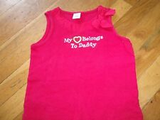 GYMBOREE SHIRT TOP SIZE 6 WATERMELON PICNIC MY HEART BELONGS TO DADDY TANK RED