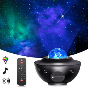 LED Starry Sky Projector Night Light Bluetooth Music Speaker Remote Galaxy Lamp
