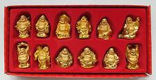 12 budas oro de colores en el obsequio aprox. 6 cm-Buda