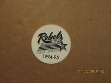 WHL Red Deer Rebels Vintage Circa 1994-95 3 Inch Team Logo Hockey Sticker