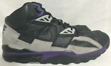 Nike Air Trainer SC High Sneakers Black/Grey/Purple 302346-050 2R-10 Men's 12