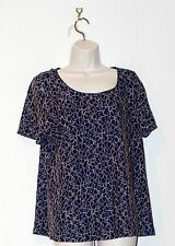 Size 18 Navy Stretch Lace & Bronze/Gold  Thread Party Blouse