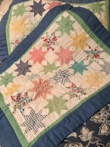 SET OF 2: AWESOME COUNTRY CHIC N SHABBY QUILTED PILLOW SHAMS- STANDARD SIZE