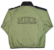 Nike Vintage Windbreaker Jacket Womens Size S Green Full Zip Track Jacket