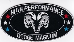 1 DODGE MAGNUM SEW/IRON ON PATCH EMBROIDERED EMBLEM BADGE HEMI MOPAR R/T RAM