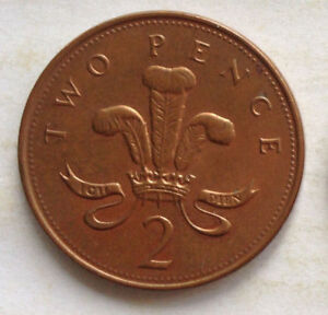 Great Britain 2 Pence coin 2000