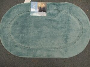 BIBB Oval Non-Slip SPA Bath Rug TEAL  *18 X30 WITH LATEX BACK  FREE SHIPPING !!!