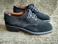 Cesare Paciotti black suede blunt tipped lace up oxfords size 7.5
