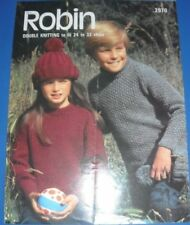Robin Childrens Sweater & Hat Knitting Pattern 2970