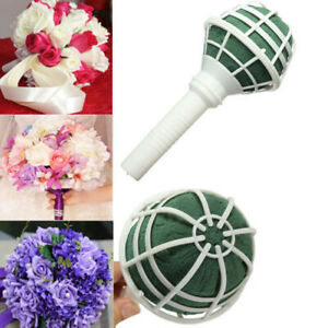1Pc Wedding Flower Holder Bridal Handle Decoration Bouquet Foam Holder Decorate
