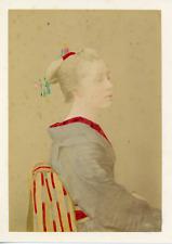 Japon, Portrait Geisha, ca.1880, vintage albumen print Vintage albumen print, mo