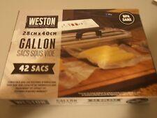"Weston qty 42 gallon vacuum sealer seal bags 11"" x 16"" (28 cm x 40 cm)"