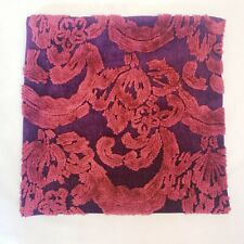 """Pottery Barn 22"""" x 22"""" Maroon & Red Patterned Decorative Pillow Case"""