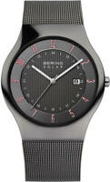 Bering Time Watch - Solar - Mens Polished Grey 14640-077