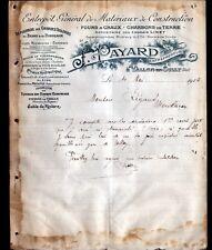 """VALLON-en-SULLY (03) USINE de TUYAUX en ciment & MATERIAUX """"J. PAYARD"""" en 1912"""