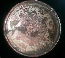 A rare Hispano Moresque ceramic plate first half S.XVIII 29x29 cm