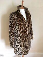 F&F Leopard Print Faux Fur Coat. UK 6 Suitable Up To Size 10