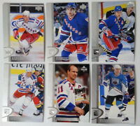 1996-97 Upper Deck UD Series 2 New York Rangers Team Set of 6 Hockey Cards
