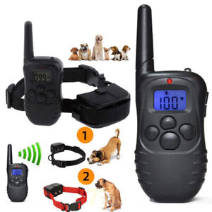 Rechargable Bark Collar Pet Training Collar Remote Vibration Electric Dog Collar