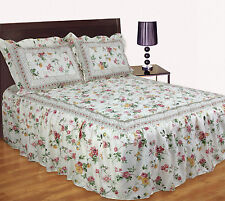 Vintage Quilted Floral Fitted Bedspread Comforter Set With Pillowshams King Hayley