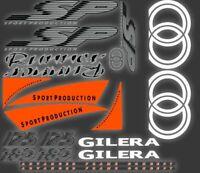 Gilera Runner SP Stickers Decals, FLUORESCENT ORANGE  AUTOCOLLANT ETICHETTA