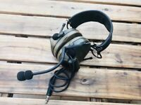 Z Tactical Comtac 2 Military Style Headset with Noise Reduction Boom Mic Z041 FG
