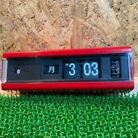 Copal Flip Clock Model 229 Red Color Vintage Retro Clock Panel Alarm Working