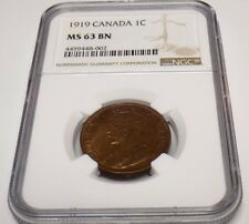 CANADA Canadian 1919 PENNY NGC MS63 BN MS 63 UNC ONE CENT Certified CA Coin