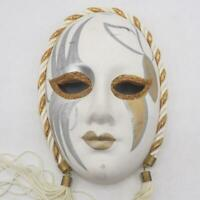 New Orleans Mardi Gras Mask Wall Hanging Decor Porcelain Ceramic Vtg