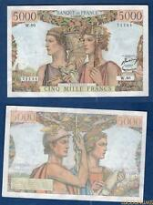 5000 Francs Terre et Mer Type 1949 – 16-8-1951 W.80 44 SUP SPL