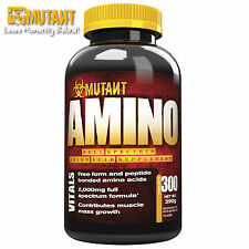 Amino 300 Tablets Amino Acids Anabolic AntiCatabolic Muscle Growth FUEL BCAA