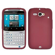 Amzer Silicone Skin Jelly Case for HTC ChaCha/HTC Status - Maroon Red