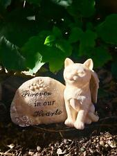 Memorial Cat Angel Statue Pet Grave Marker Tribute Ornament Sculpture