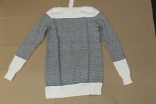 Loft Striped Speckled Boatneck Tunic Sweater Size:Xs Color: White Multi Nwt