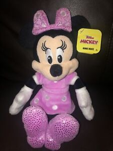 """Disney Jr. Mickey Mouse Clubhouse- MINNIE MOUSE Plush 10"""""""