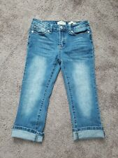 Jessica Simpson Girl's Forever Rolled Crop Jean Size 12