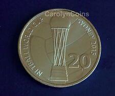 "20 Cent "" Coin Netball World Cup Sydney 2015 "" Australian 20c Coin , UNC in card"