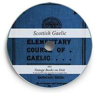 Scottish Gaelic Language 163 Books on DVD Learn Grammar Vocabulary Dictionary E4