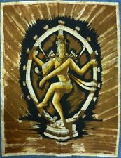 Indian Batik Lord Shiva Natraj Hindu God Wall Hanging Approx. Size 82 x 112 cm